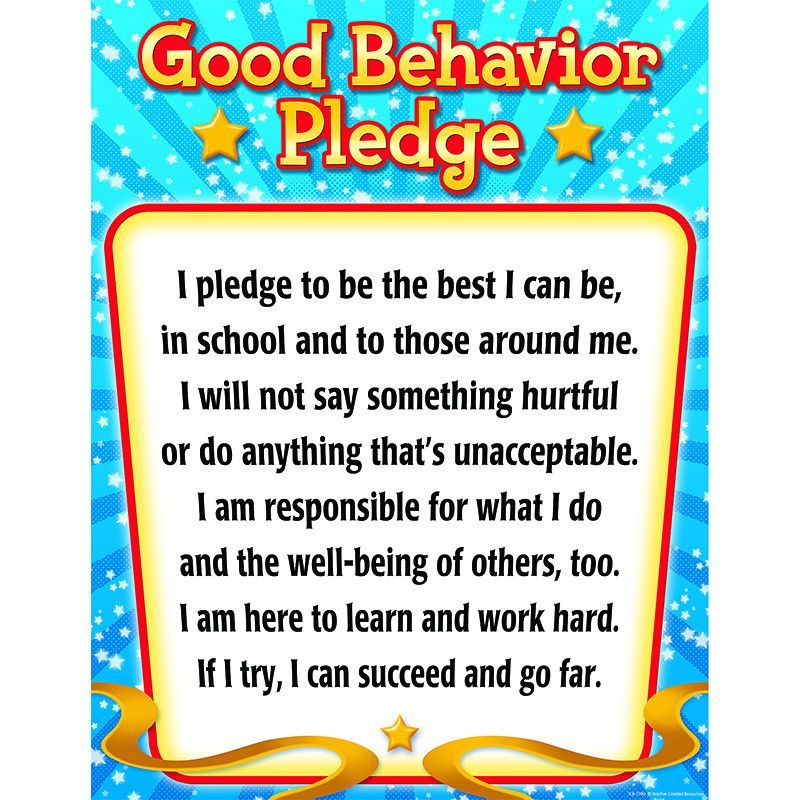 Classroom Party Ideas For Good Behavior ~ Good behavior pledge chart activities and
