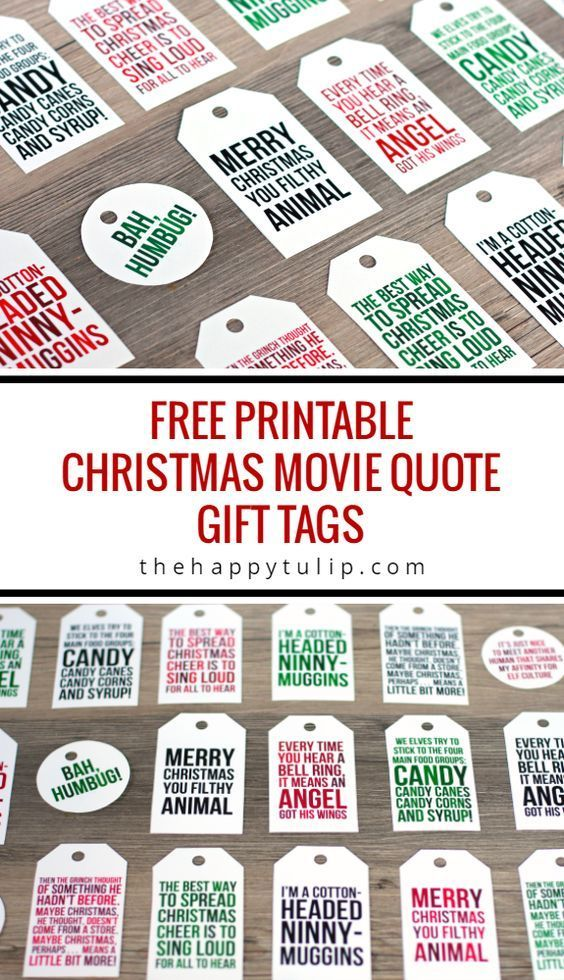 The BEST FREE Christmas Printables u2013 Gift Tags, Holiday Greeting - free printable christmas gift certificate