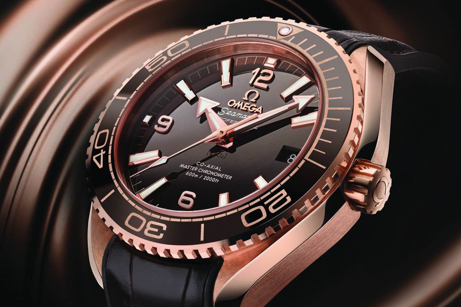 6695d7864d4d Omega Seamaster Planet Ocean 600m Master Chronometer 39.5mm Sedna Gold  brown dial - baselworld 2016 - ref. 215.63.40.20.13.001