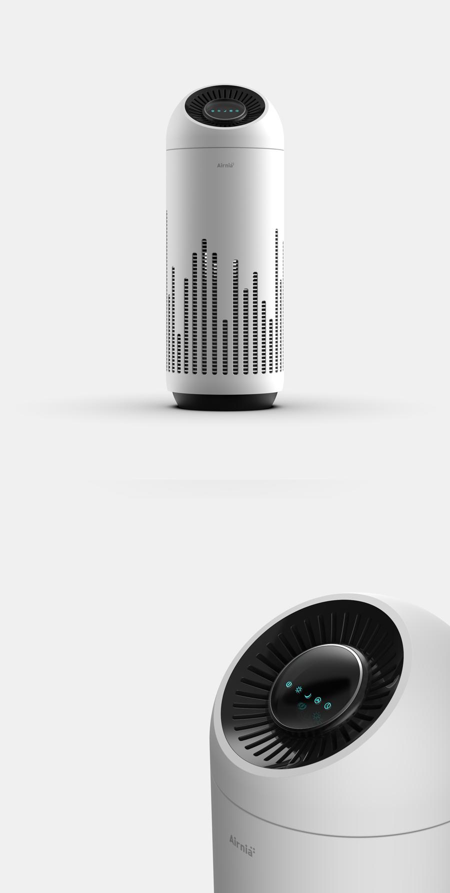 사용자의 생활 환경을 배려한 거실용 공기청정기 제품 디자인 디자인 제품디자인 공기청정기 산업디자인
