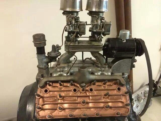 Ford Flathead with ultra rare Federal Mogul copper/bronze
