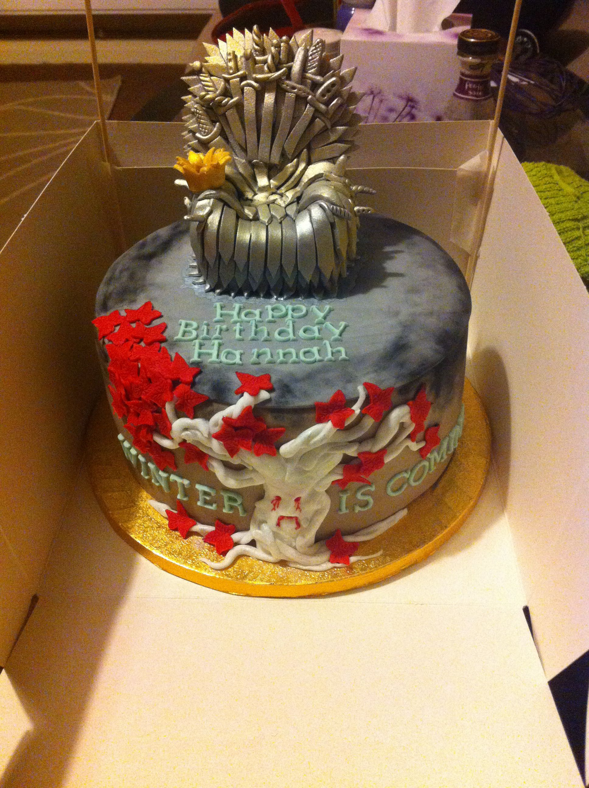My birthday cake probably the best Game of Thrones cake ever