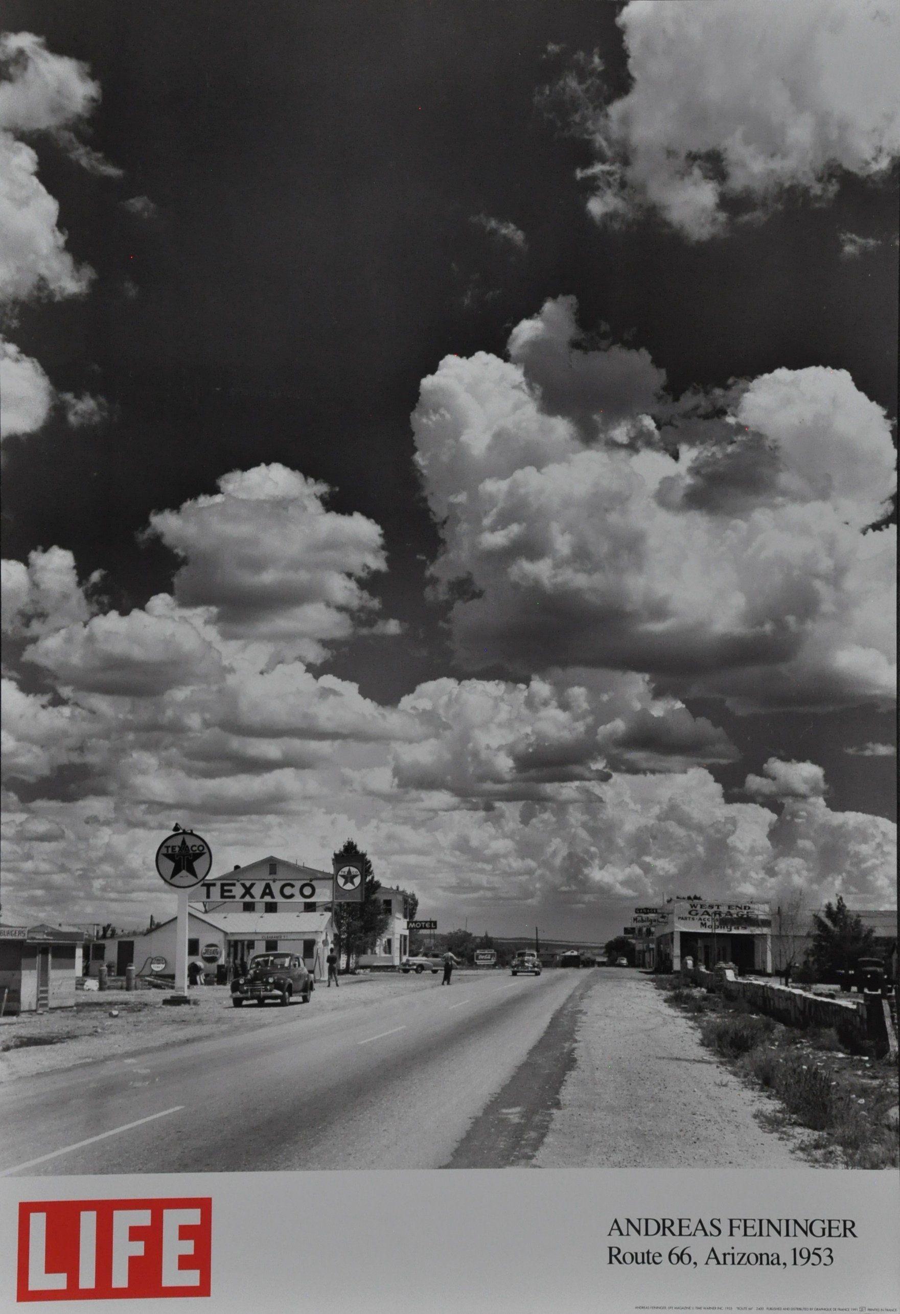 "Feininger, Andreas ""Route 66, Arizona, 1955"" Life Magazine Poster Near Mint  Condition"