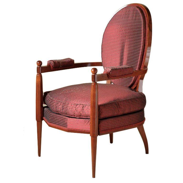 French Art Deco Armchair / Ruhlmann / c. 1920