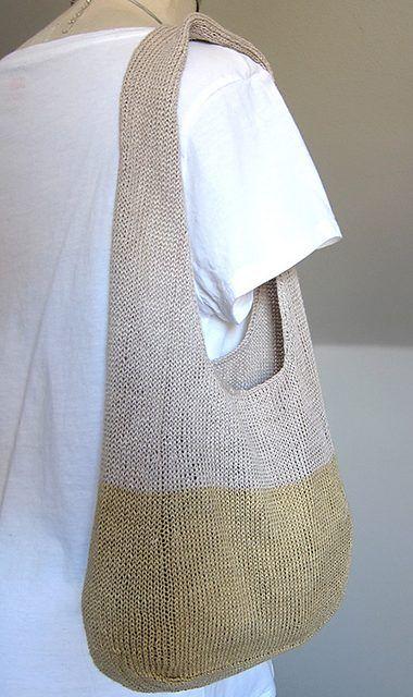 Free Knitting Pattern For Summer Fling Tote Knitting Pinterest