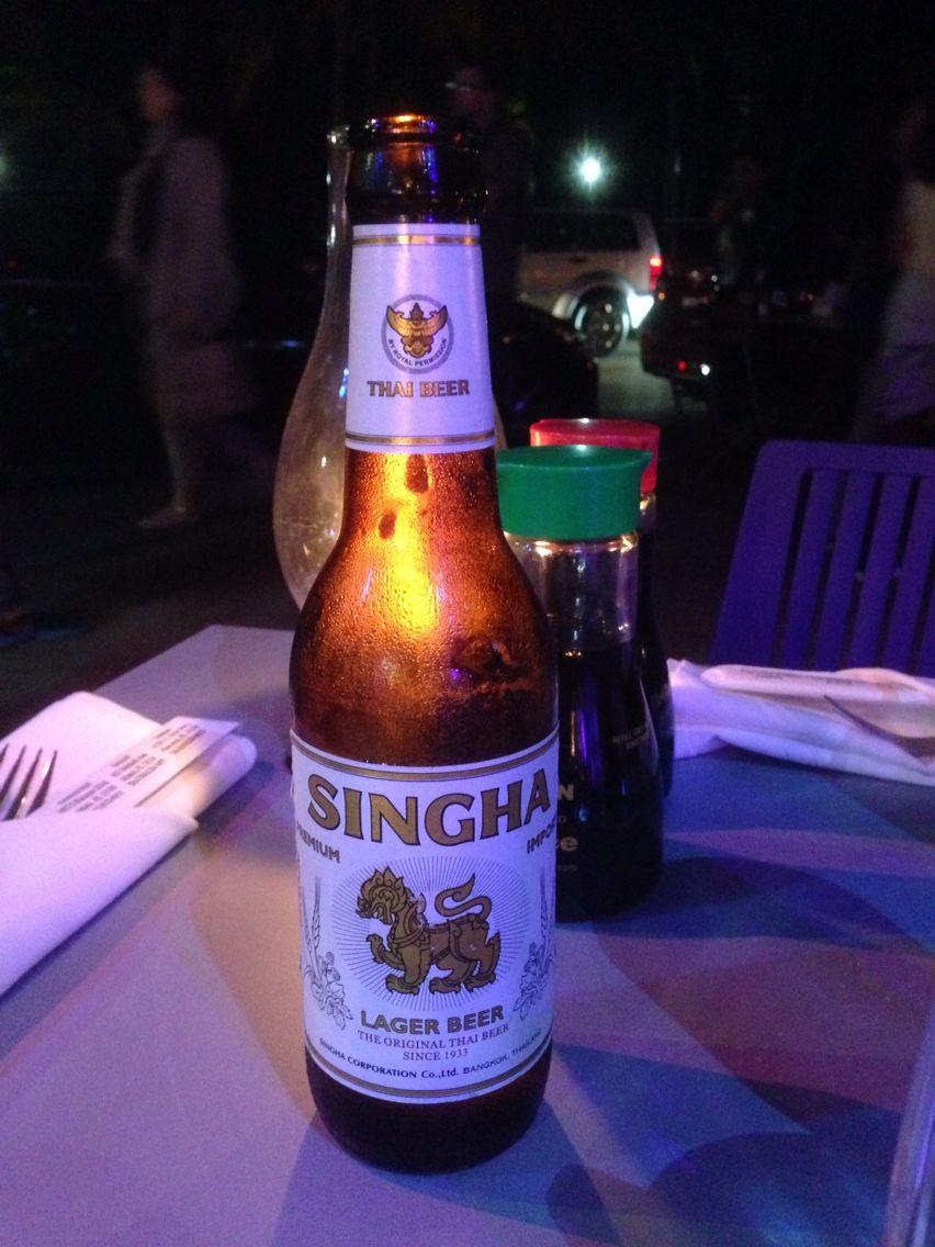 Thai Beer At Sushi Siam In South Beach