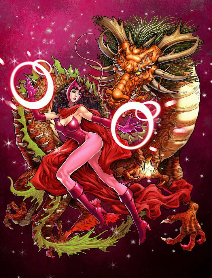 Scarlet Witch & Her Dragon