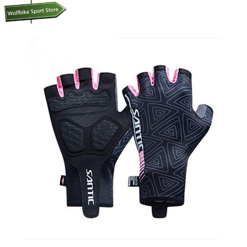 Women Sports Racing Bike Cycling Half Finger Gloves Short Finger Sport Gloves