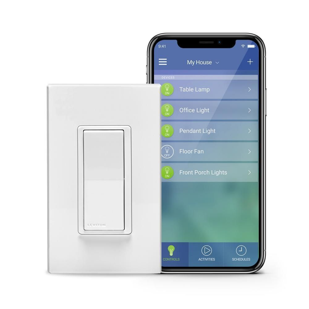 Leviton Decora Filter Kit Smart Wi Fi Led Lights Switch Hub Required Works Home Led Dimmer Leviton Works With Alexa