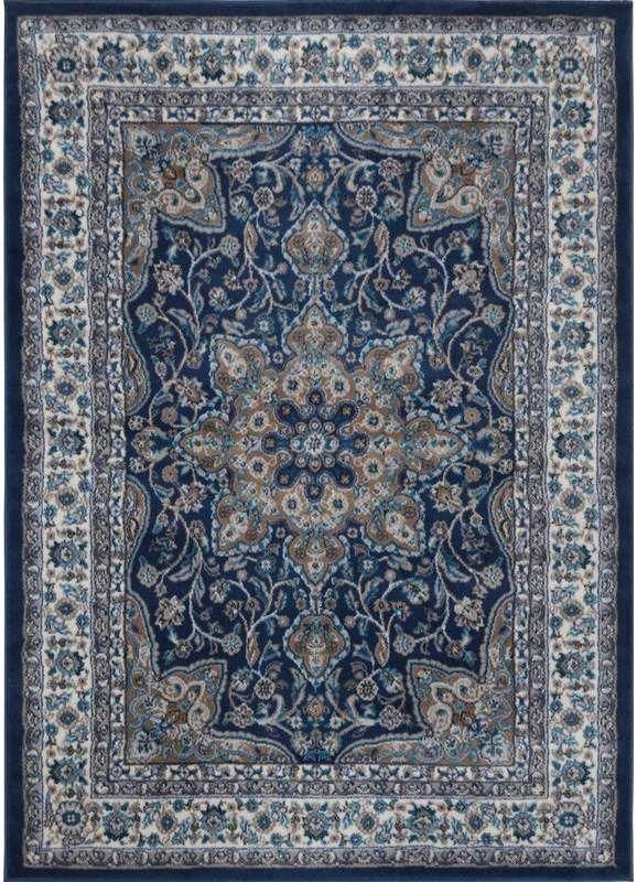 Arend Oriental Navy Blue White Area Rug In 2020 Brown