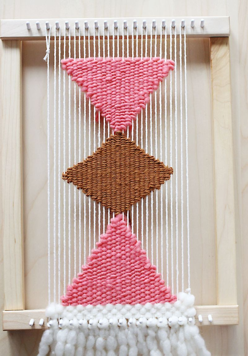 Weaving, shape and tassels on pinterest