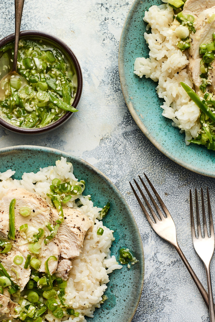 Chicken And Rice With Scallion Ginger Sauce Sue Li Nyt Yield 4 Servings Time 45 Minutes In 2020 Recipes Ginger Sauce One Pot Meals