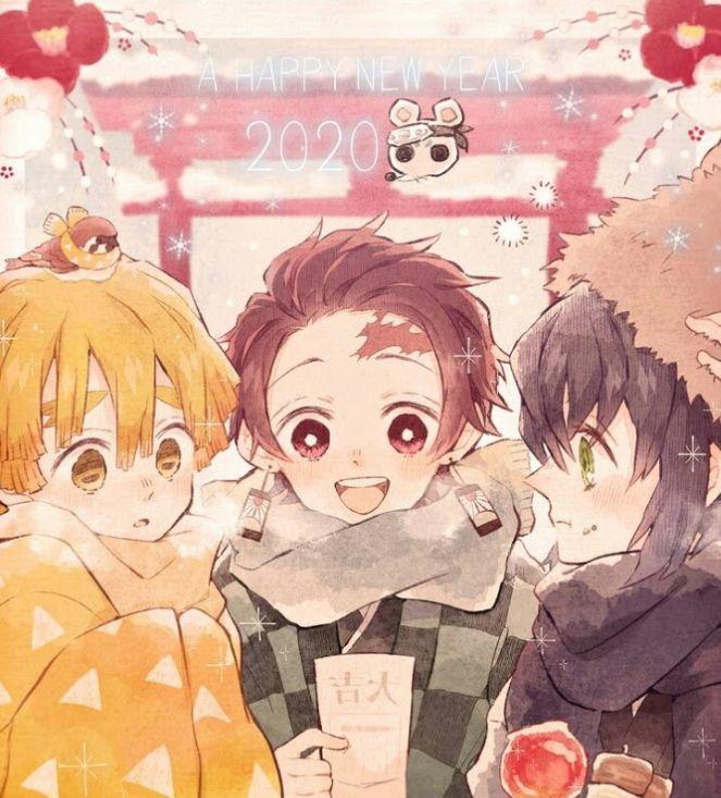 Happy New Year 2020 Fandom Anime Demon New Year Anime Slayer Anime