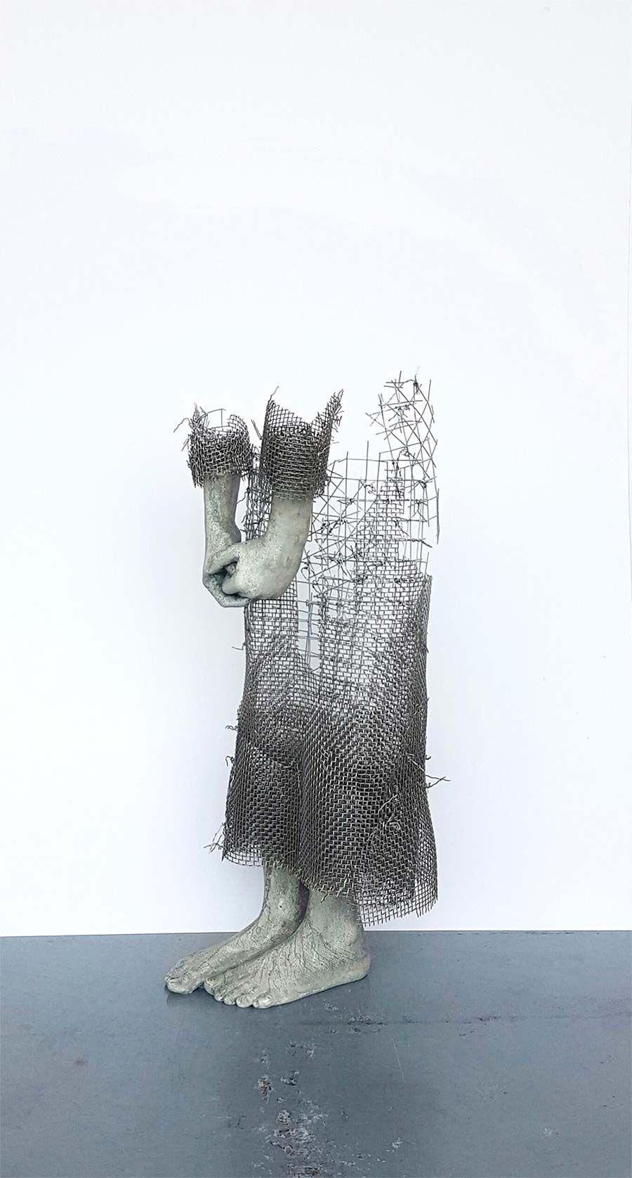 In Luft auflösende Skulpturen aus Draht - Kreative Kunst von Lene ...