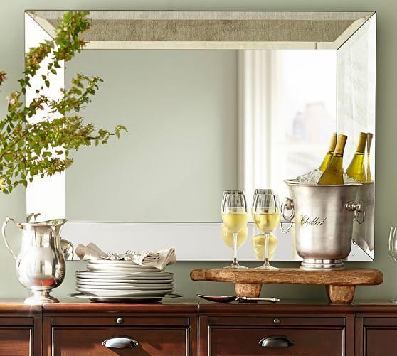 Bevel Rectangular Mirror Pottery Barn Bathroom Mirrors Option
