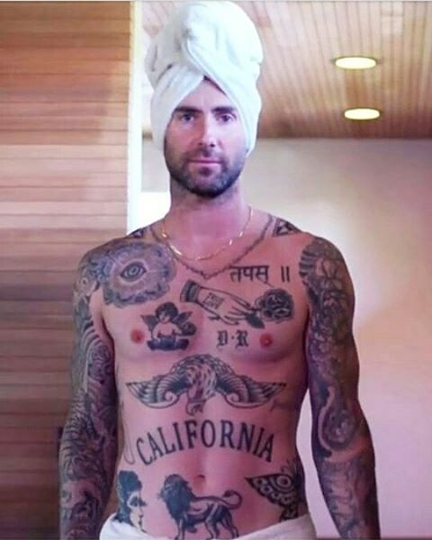 1 396 likes 20 comments adam levine fanpage for Adam levines tattoos