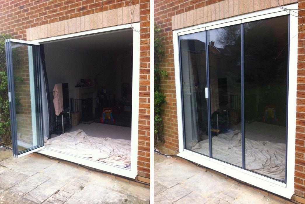 Double Glazed Frameless Retractable Patio Doors Extension Doors