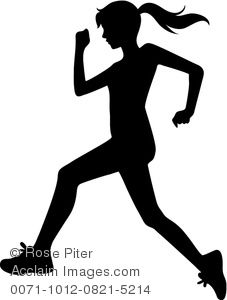 Sports running. Clipart image of a