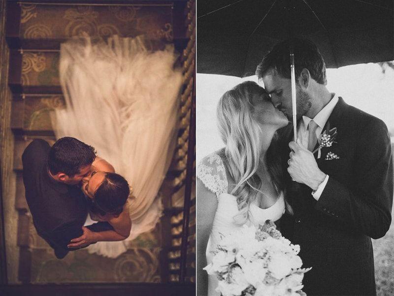 46 ideias lindas de fotos de beijo dos noivos no casamento direto do Pinterest | Casar.com