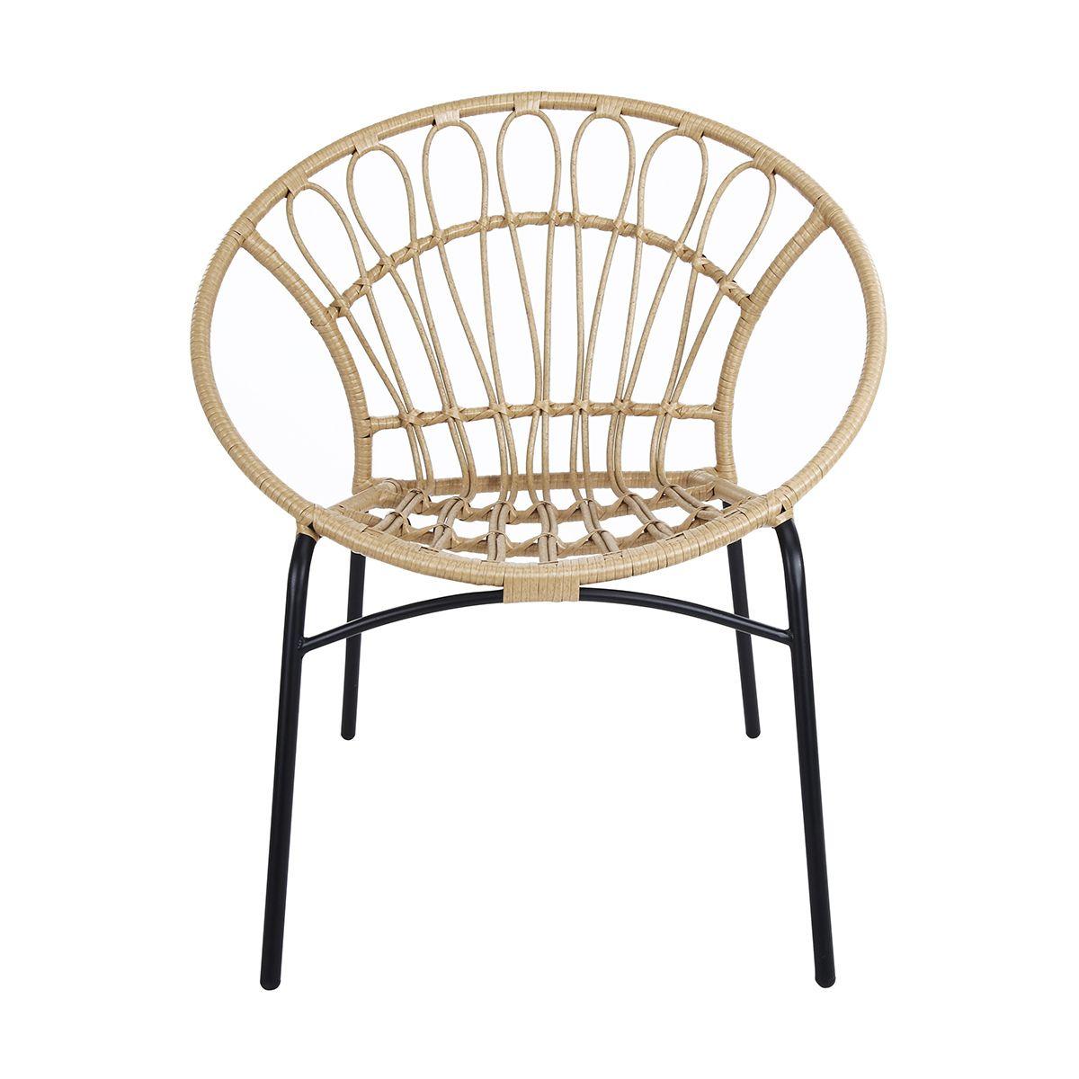 Rattan Look Chair Natural Kmart Outdoor Furniture