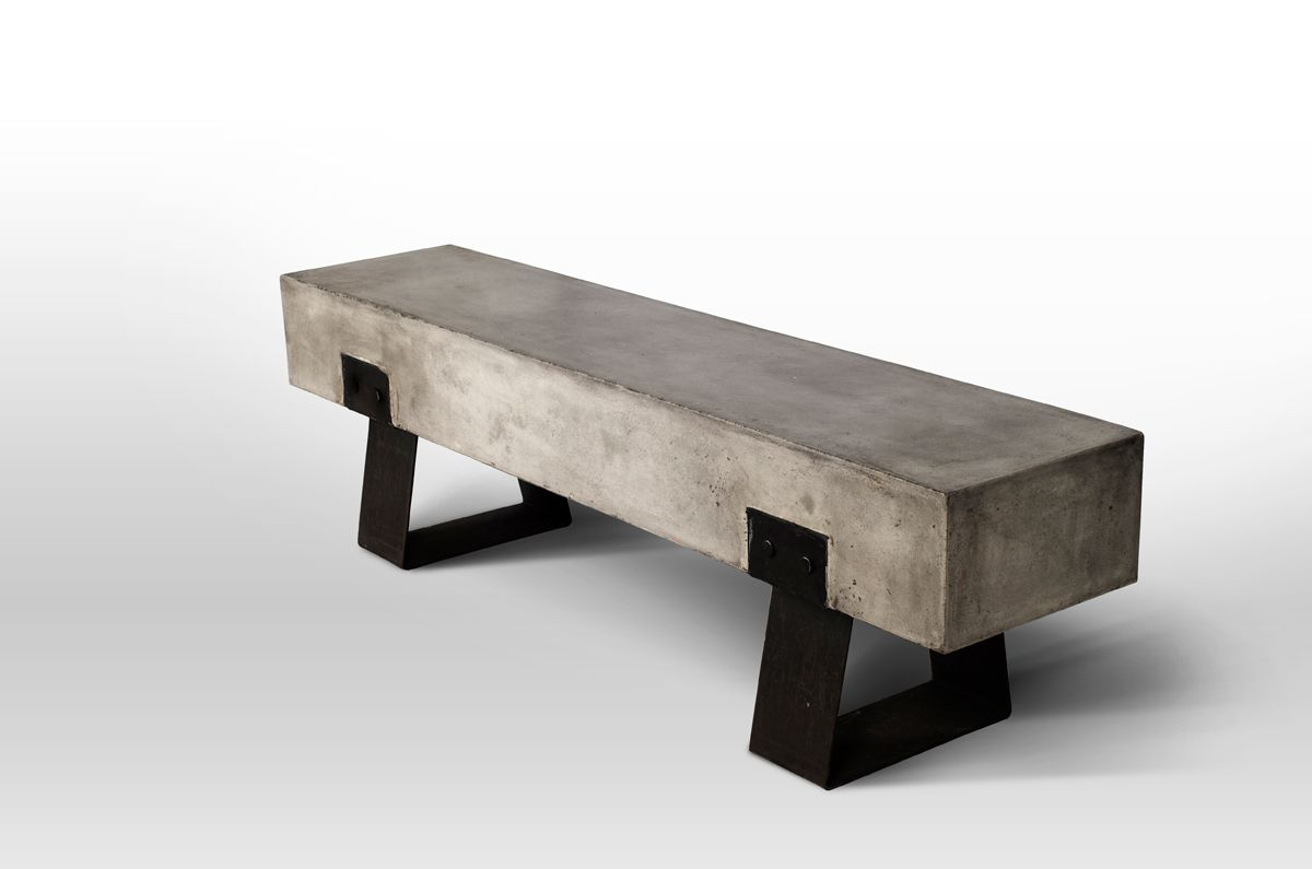 Modrest Haring Modern Concrete Bench Concrete Bench Concrete Furniture Cement Furniture