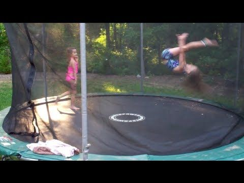 7 and 8 Year Old Gymnastics Tricks on Trampoline | You tube