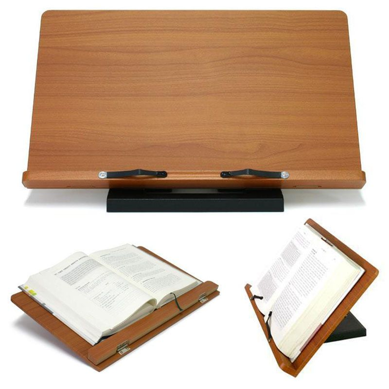 Freesia Book Stand Portable Wooden Reading Holder Desk Bookstand Cookbook Wiztem