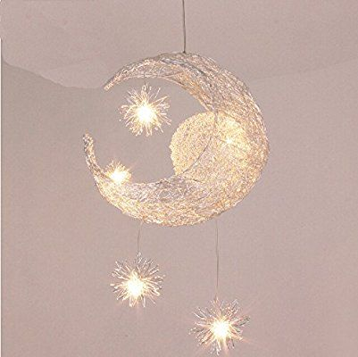 Lonfenner Creative Moon And Stars Pendelleuchte