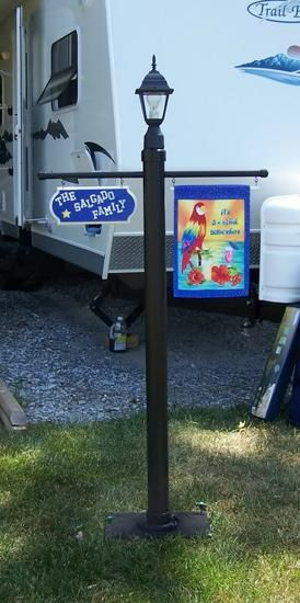 RV Sign Holder: Display Your Personalized Sign with PVC