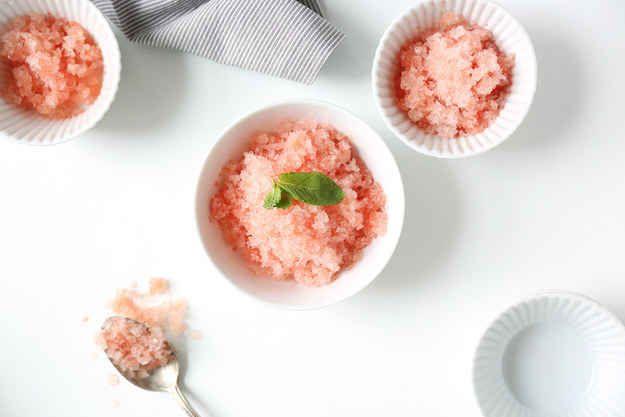 Watermelon and Mint Granita