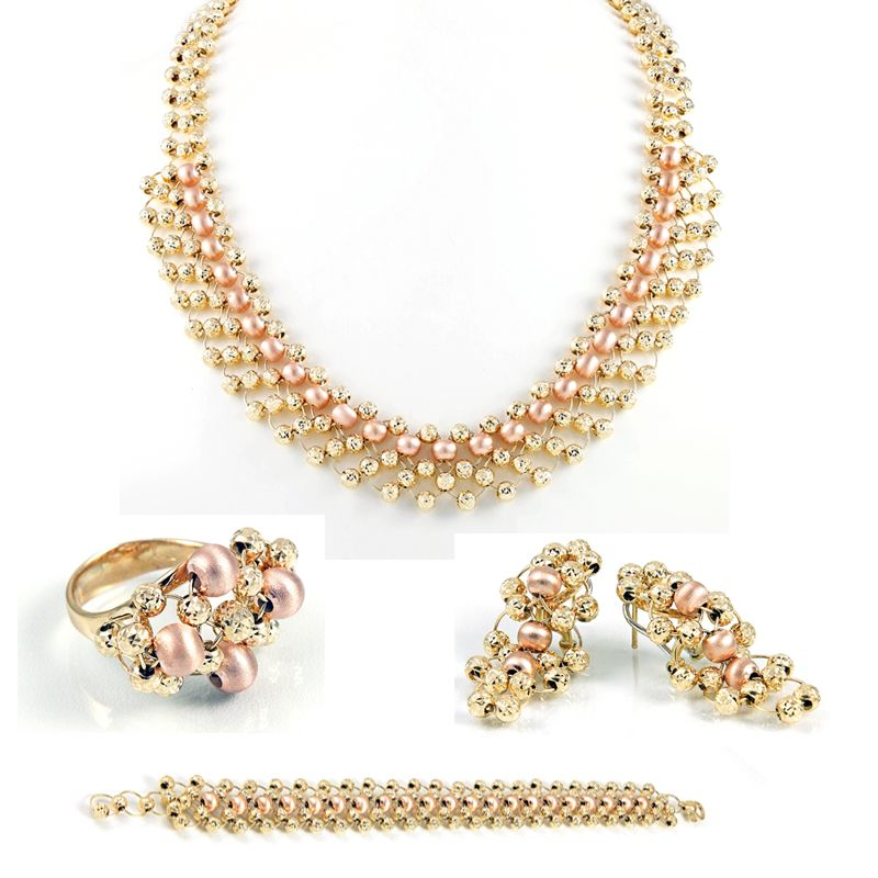 14++ Tri color gold jewelry sets viral
