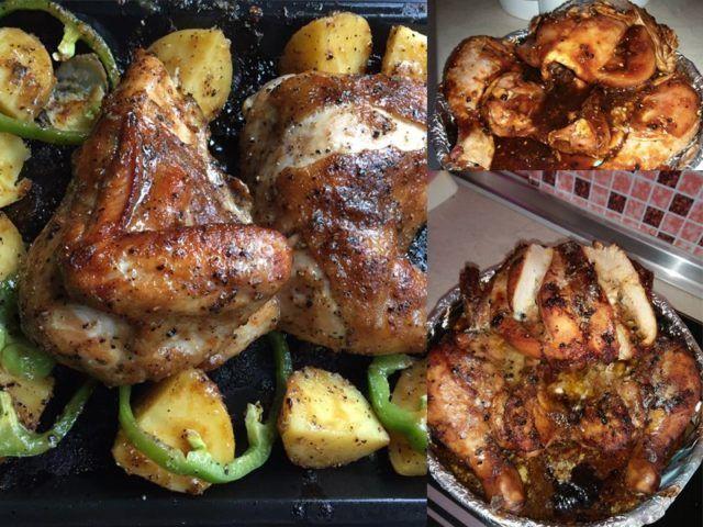 Untuk Dapatkan Ayam Panggang Yang Berkilat Boleh Keluarkan Ayam 5 Minit Sebelum Masak Dan Sapu Sedikit Marjerin Pada Bahagian Lua Cooking Recipes Food Cooking