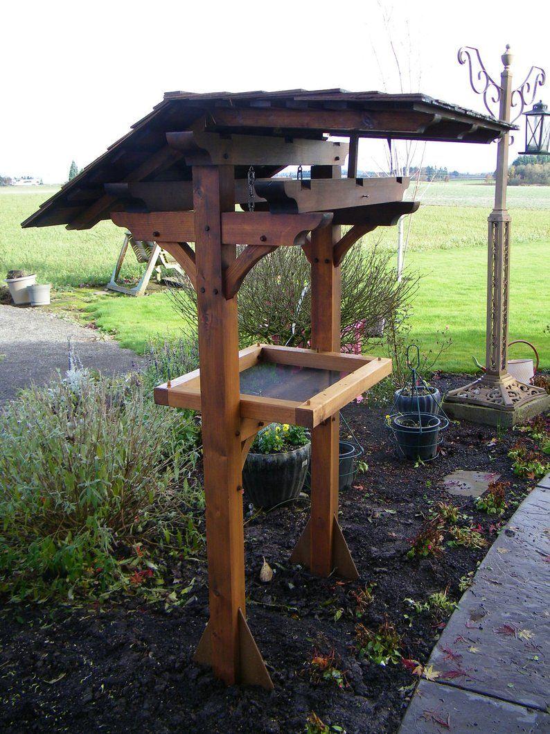 Bird Feeder Sanctuary Western Red Cedar