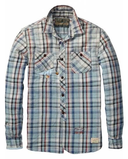 f1c01e3134d39 Heavy Flannel Worked-Out Shirt   Mens Clothing   Shirts at Scotch   Soda -