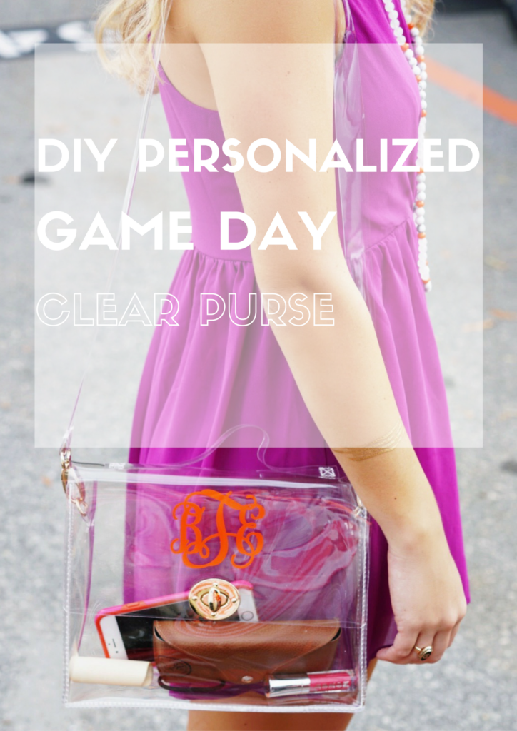 90af1feb7f0a DIY Personalized Game Day Clear Purse Clear Bag Policy Purse Football  Stadium Clemson Tigers