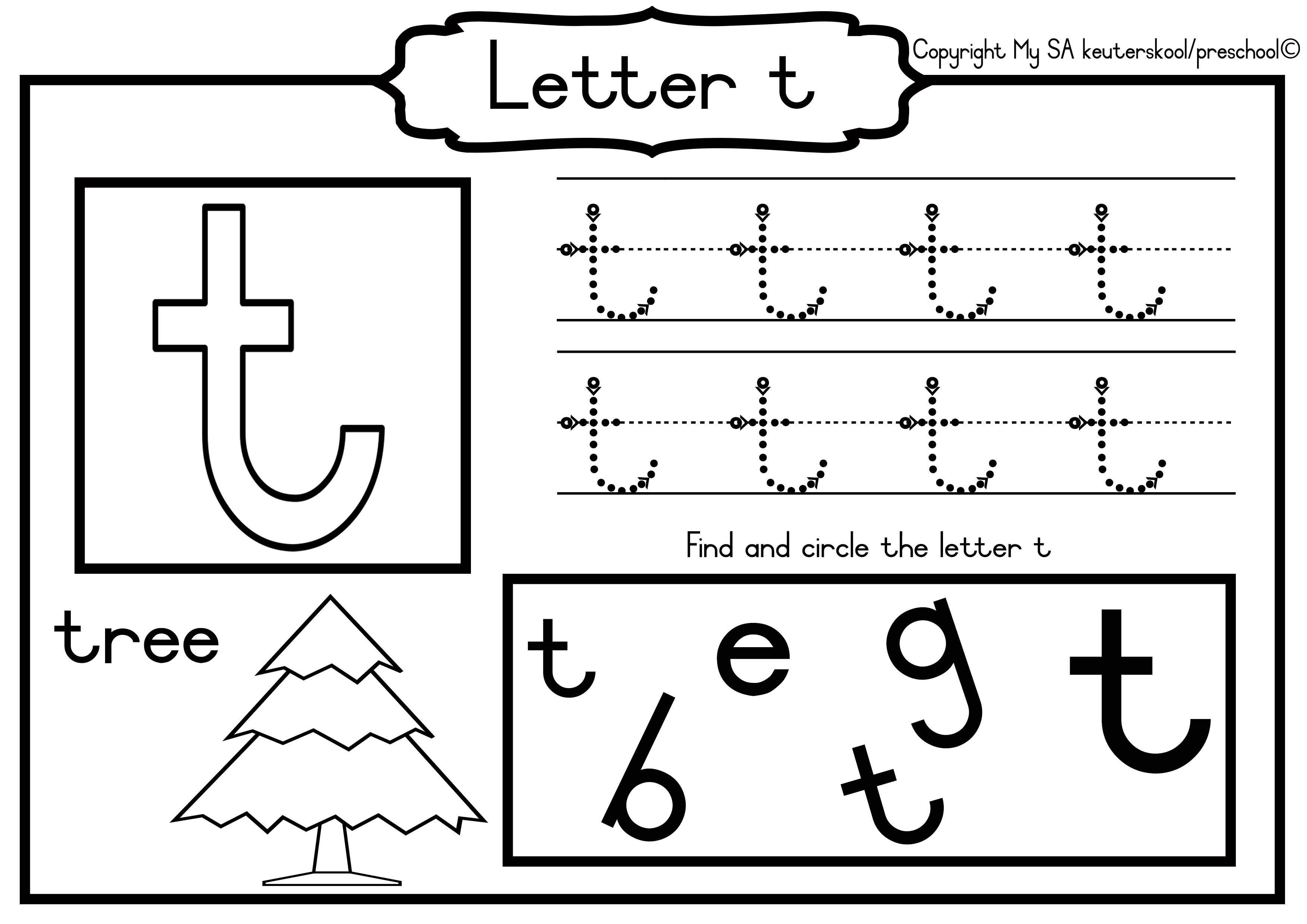 Grade R Alphabet Worksheets In