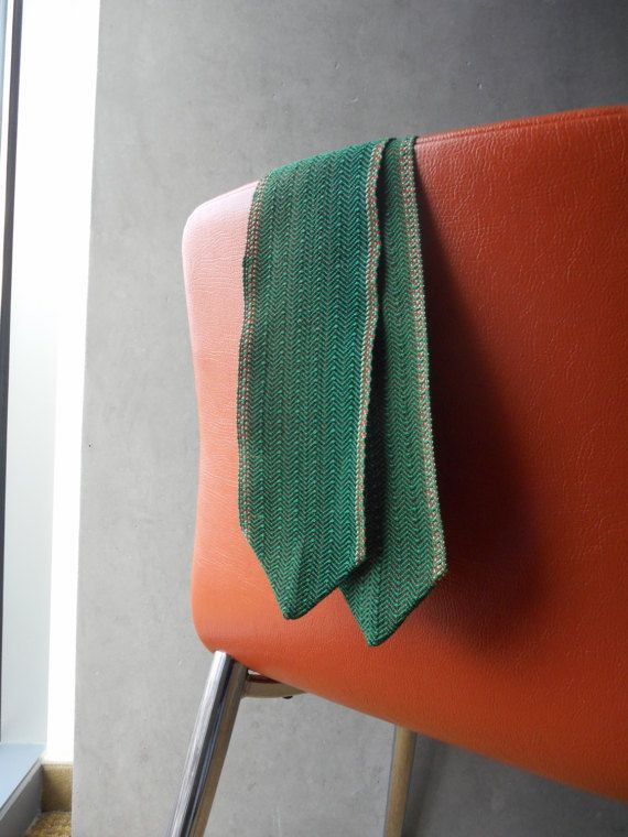 Handwoven  Twill Skinny Scarf by MEMEtextiles on Etsy