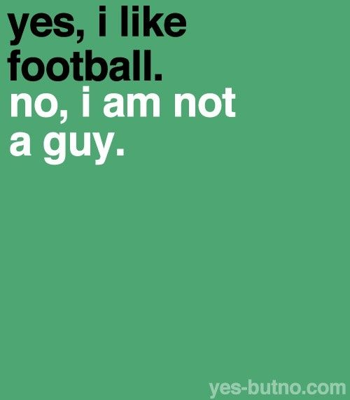 Yes, I LOVE football. ;)