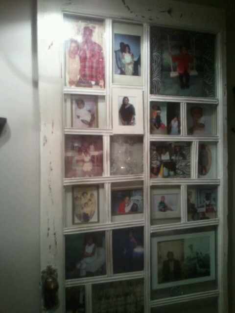 Old Door Used As Picture Frame Restore Reuse Reproduce