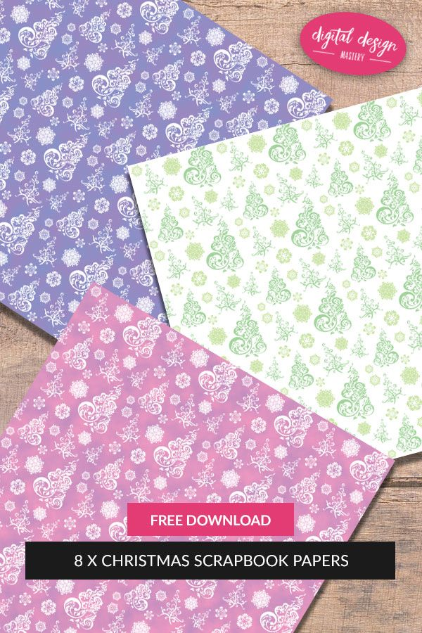 Free Christmas Scrapbook Papers | Christmas scrapbook, Card making ideas free printables ...