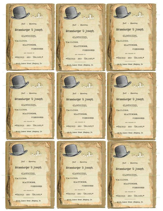 INSTANT DOWNLOAD Vintage Hats Strassburger And Joseph Hats Vintage