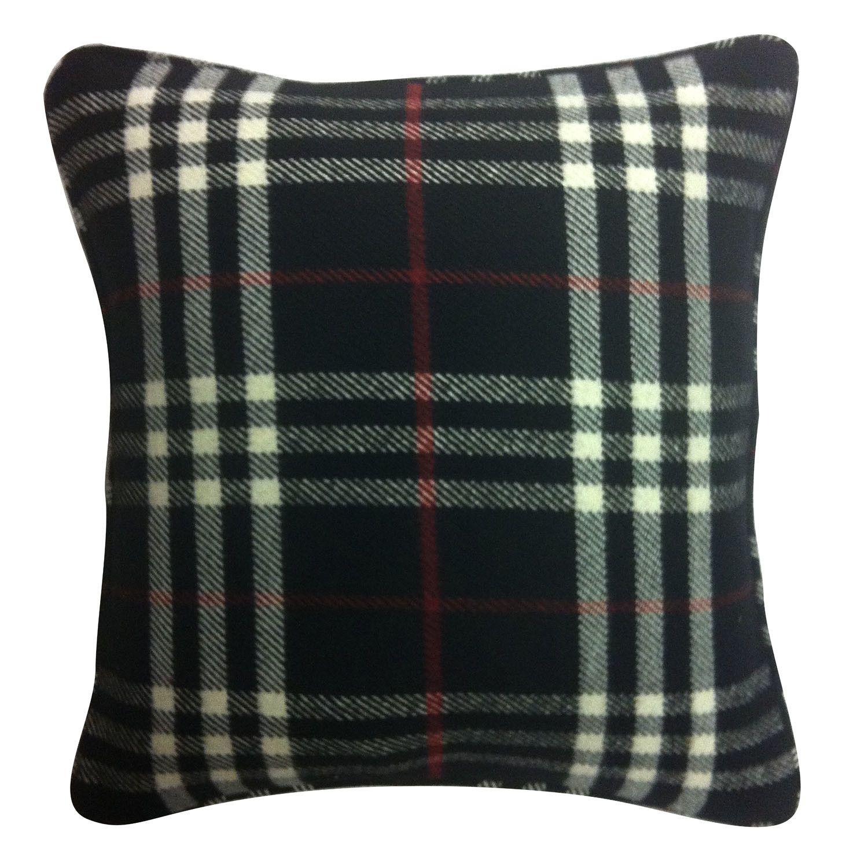 Black Plaid Throw Pillow Plaid throw pillows, Black