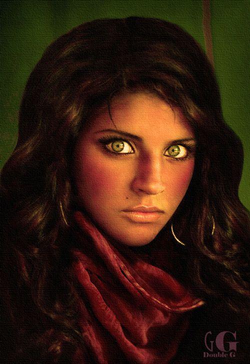 Hermosos ojos verdes