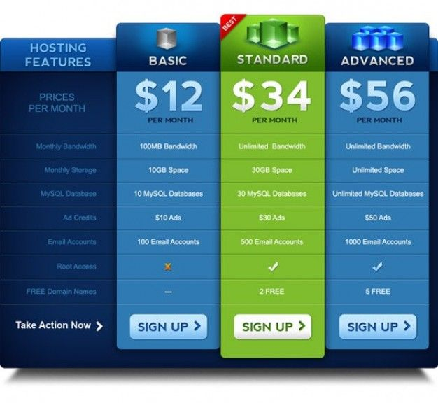 Pricing Table Ui Freepik Psd  Geek    Pricing Table