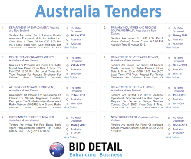 bid detail is the leading online tender portal that provides the all over world latest tender details included the australian government tenders