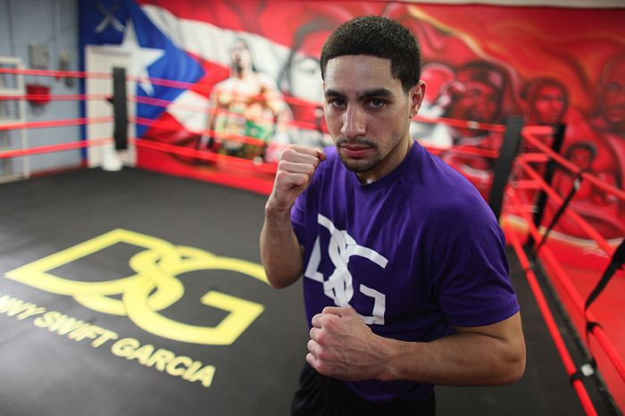 Danny Angel Garcia Media Day Workout At The Dsg Boxing Gym In Philly Quotes Photos The Pugilist Report Boxing Workout Boxing Gym Danny Garcia