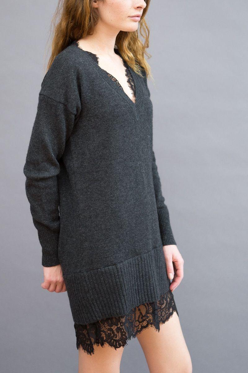 4cae3ea74e2 Brochu Walker Lace Looker Sweater Dress