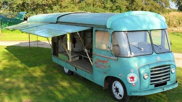 1958 Citroen Sliding Roof Van Display For Sale Canopy