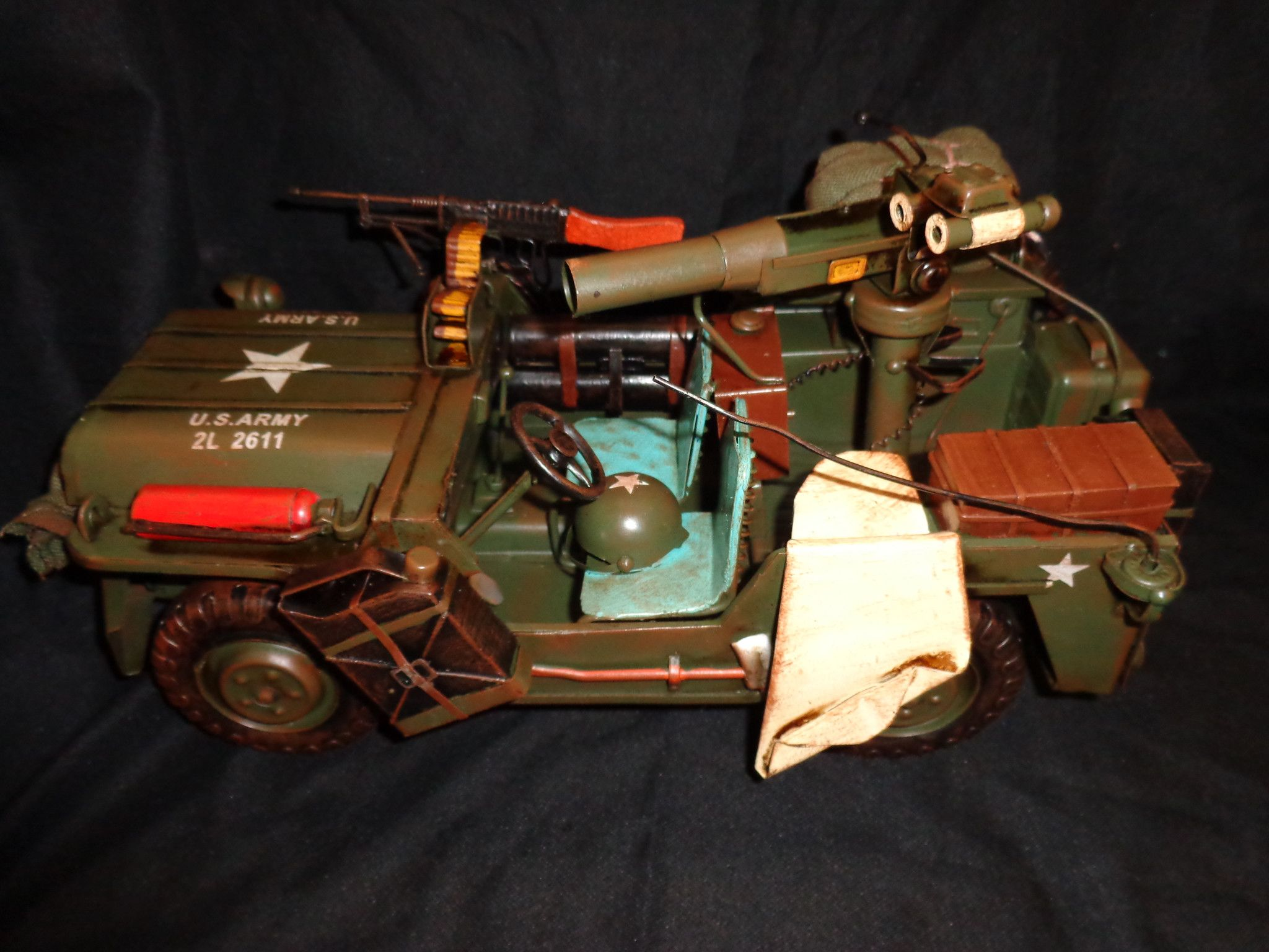 """Vintage Toys Willys WB Military Jeep 15"""" Large Willys"""