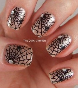 Avon Halloween Nail Art Design Strips All Webbed Out 2